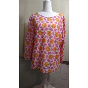 RUBY RD MULTI-COLOR TOP SIZE LARGE-